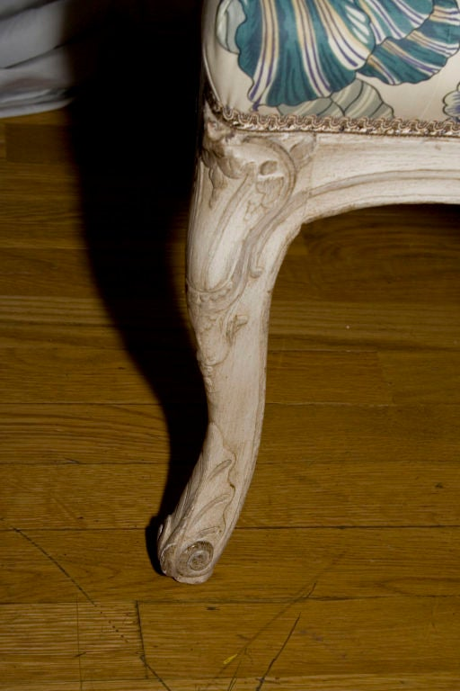 A French Louis XV Style Painted Settee 4