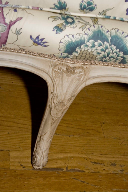 A French Louis XV Style Painted Settee 6