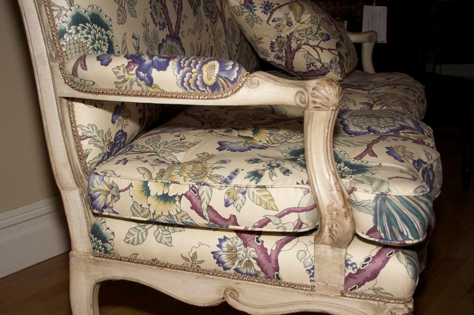 A French Louis XV Style Painted Settee 8