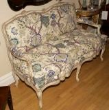 A French Louis XV Style Painted Settee image 7