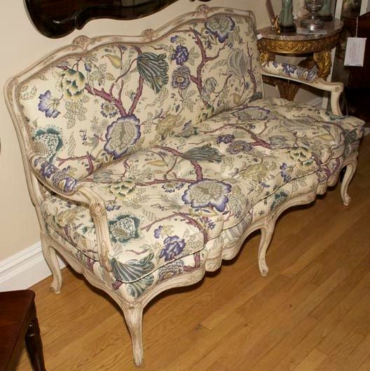 A French Louis XV Style Painted Settee 7