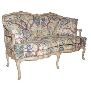 A French Louis XV Style Painted Settee