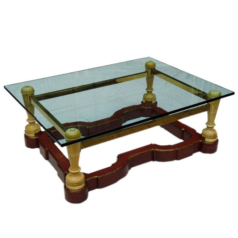 A Custom Made English Coffee Table At 1stdibs
