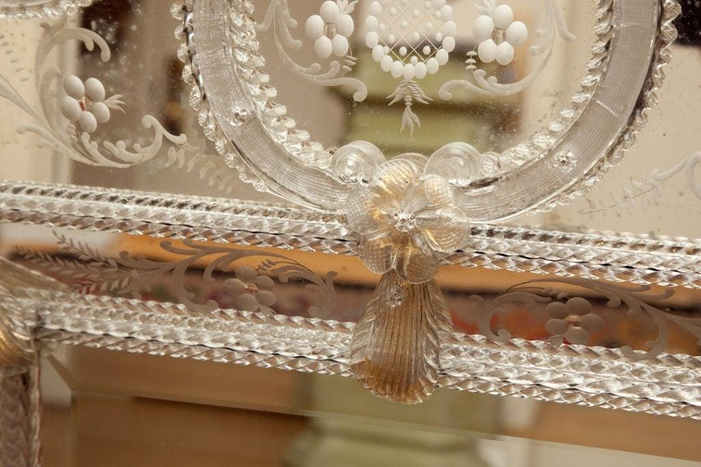 An Italian Hand Blown Murano Glass Mirror At 1stdibs