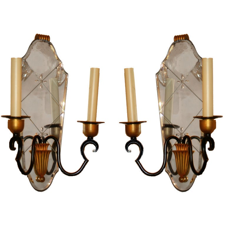 French Art Deco Wall Sconces : French Art Deco Sconces at 1stdibs