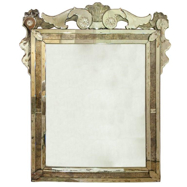 A Venetian Glass Mirror At 1stdibs