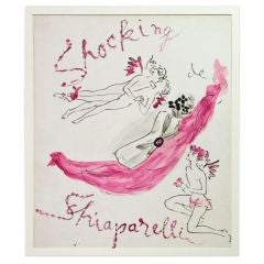 "Schiaparelli Fragrance ""Shocking"" Illustration by Marcel Vertes"
