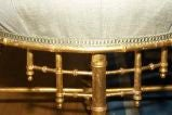 A French Napoleon III Style Faux Bamboo Ottoman image 2