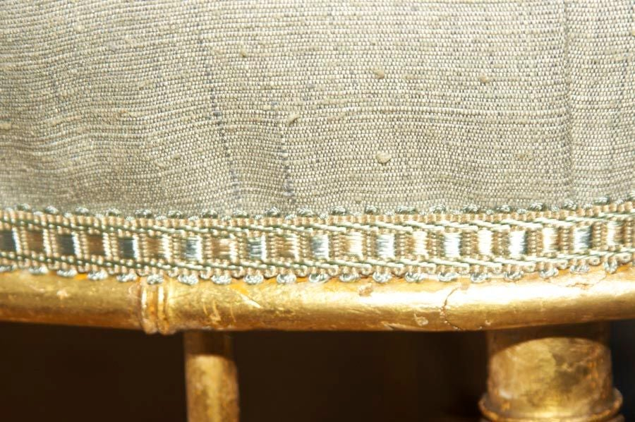 A French Napoleon III Style Faux Bamboo Ottoman 3