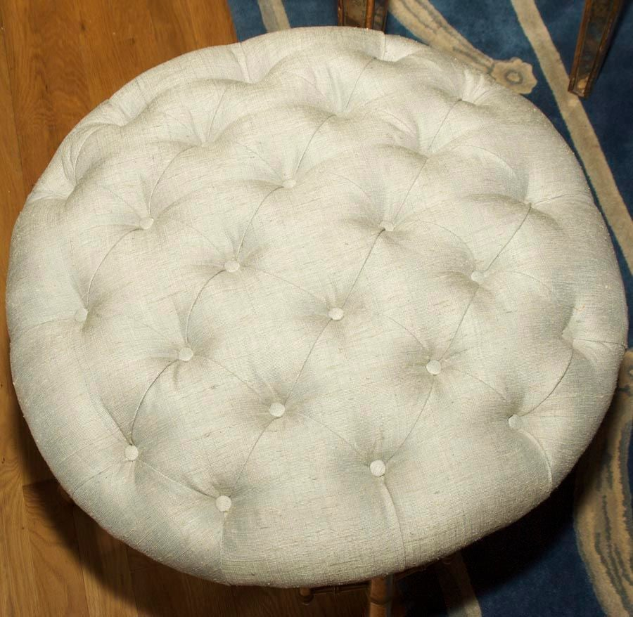 A French Napoleon III Style Faux Bamboo Ottoman 6
