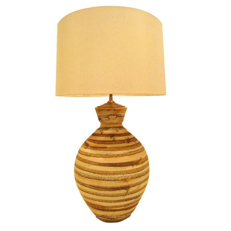 Lava Glazed  Ceramic Lamp