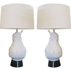 Pair of Italian Terracotta Lamps
