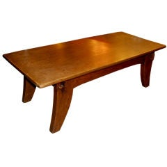 French 1940's Oak Coffee Table