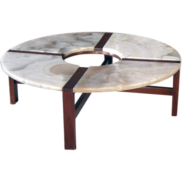 minimal framed coffee coffee table with nuvolato onyx top at 1stdibs. Black Bedroom Furniture Sets. Home Design Ideas