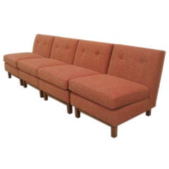 A Modular  Set of 4 Slipper Chairs Sectional by Jens Risom