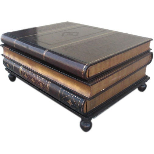 Gold Leaf Bound Leather Coffee Table By Maitland Smith At 1stdibs