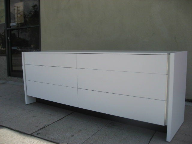 Mid Century Low And Long Six Drawer Dresser By Glenn Of California 3