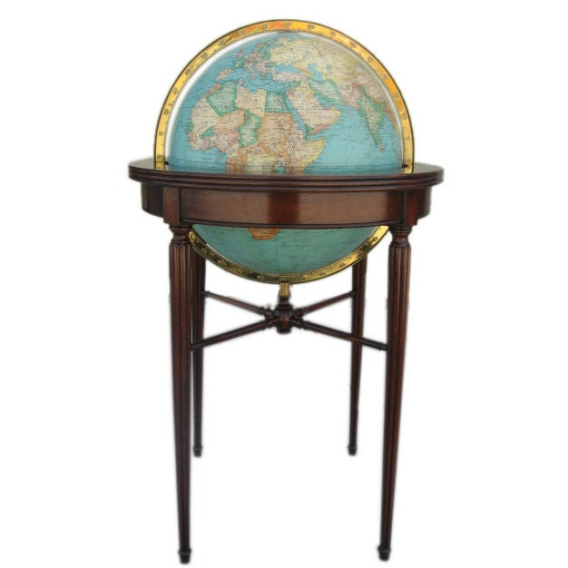 An Illuminated Floor Globe At 1stdibs