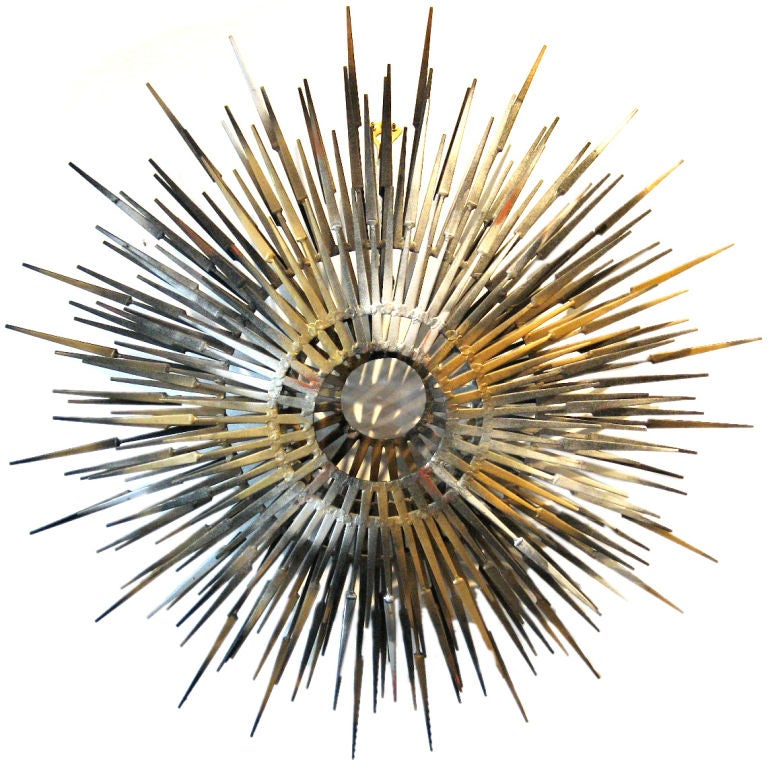 starburst wall sculpture at 1stdibs. Black Bedroom Furniture Sets. Home Design Ideas