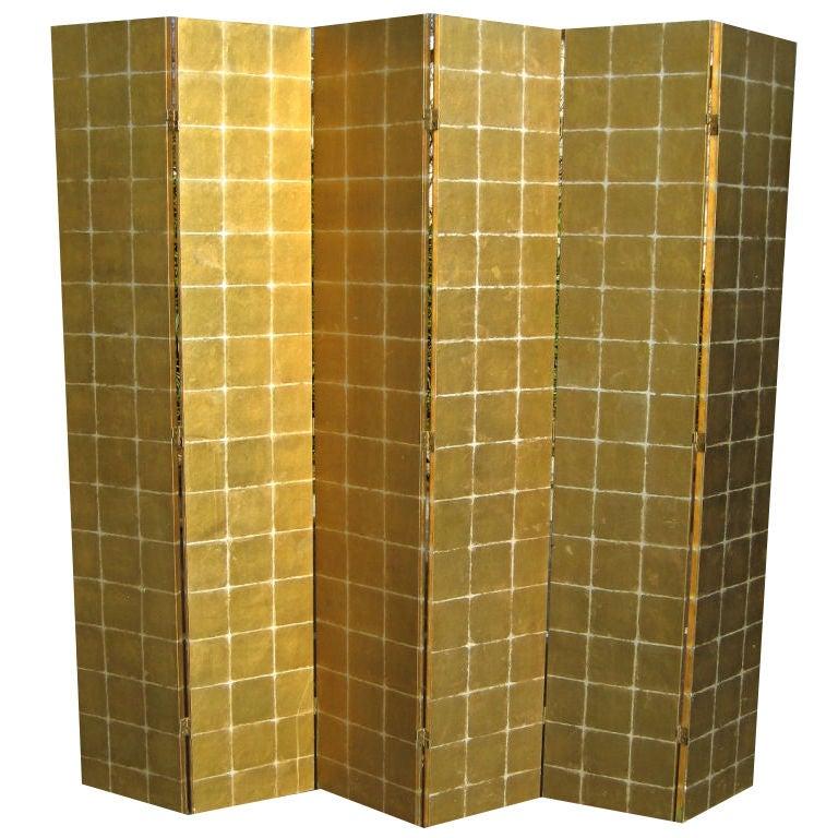 Six Panel Gold Leaf Screen