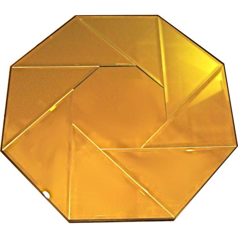 Large Octagonal Pinwheel Pattern Mirror For Sale