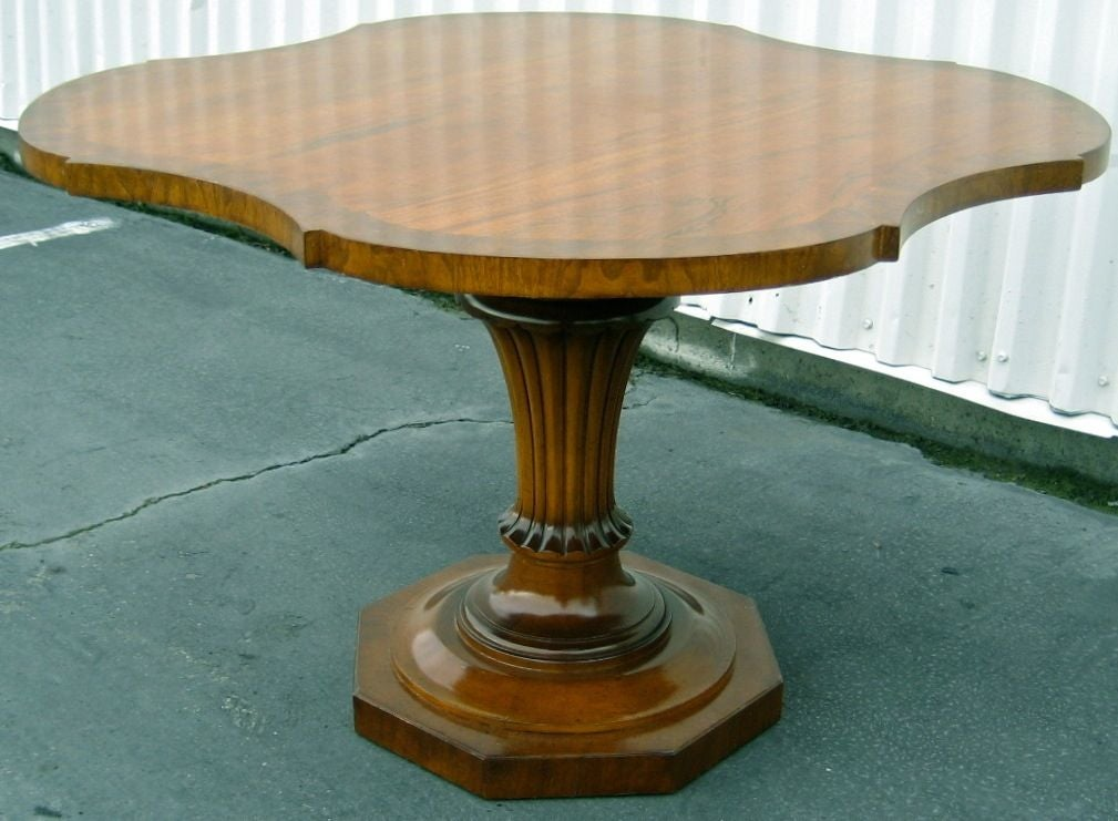 Fluted urn pedestal games table by w j sloane at 1stdibs for Fluted pedestal base