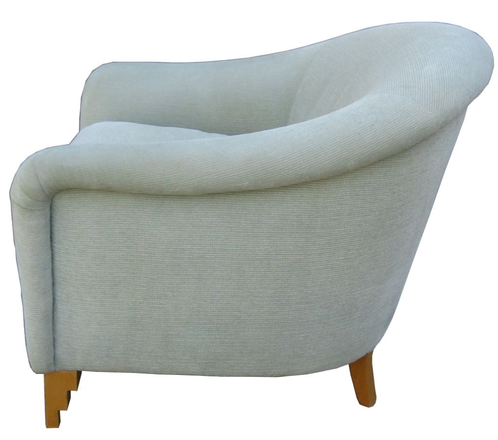 Pair of club chairs by john hutton for donghia at 1stdibs for A la mode salon hudson wi