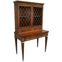 Regency Style Secretary / Bureau with Brass Mounts