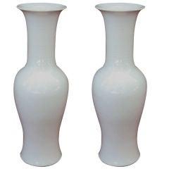 Pair of Porcelain Urn Vases
