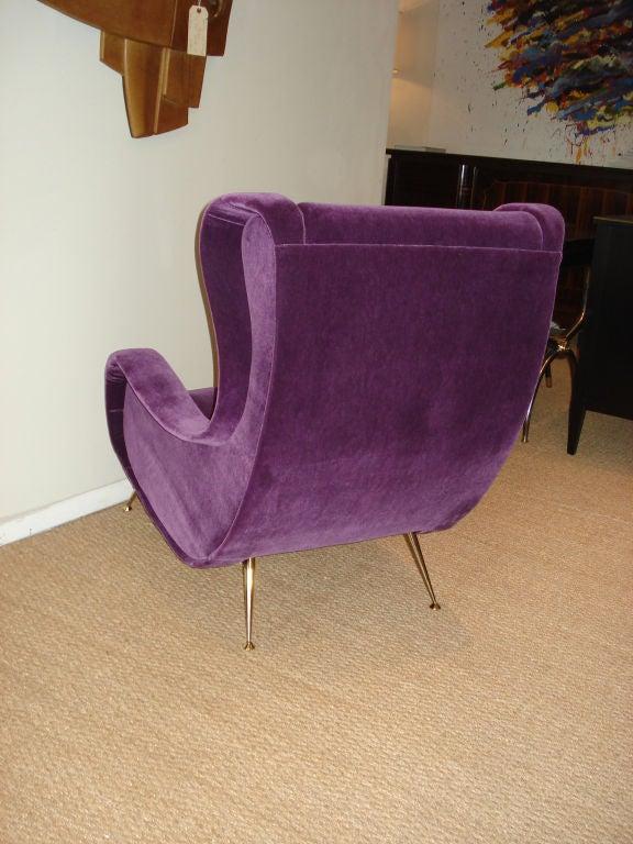 Mid-20th Century Superb Italian 1950's Lounge Chair.