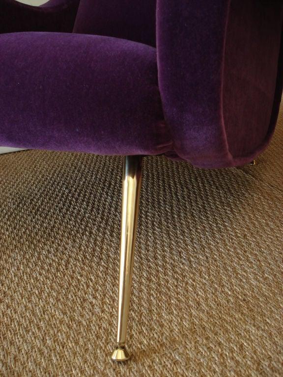 Superb Italian 1950's Lounge Chair. 2