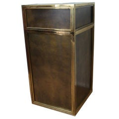 French Brass Free Standing Dry Bar.