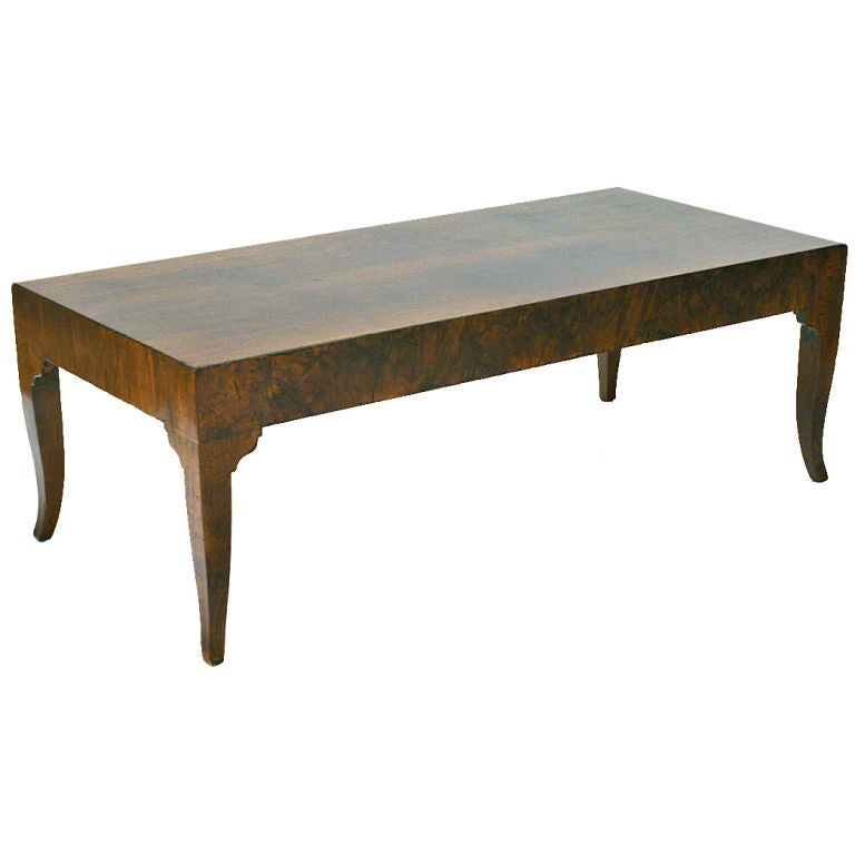 An italian neoclassical style walnut veneer coffee table at 1stdibs Tuscan style coffee table