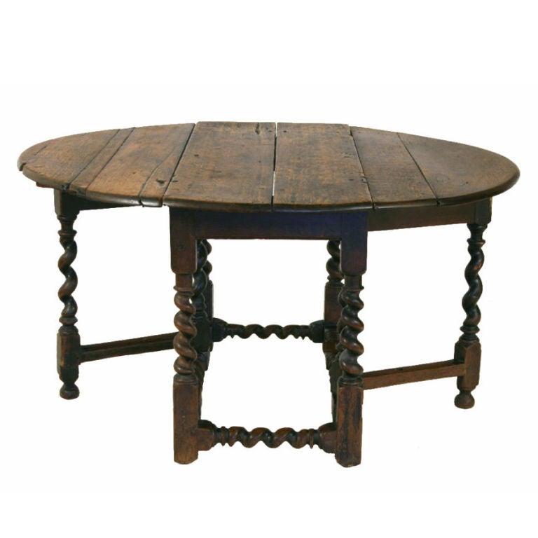 an italian louis xiii period oak gateleg table at 1stdibs. Black Bedroom Furniture Sets. Home Design Ideas
