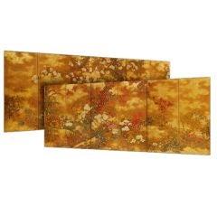 Important Pair Edo Period Six-Fold Screens, circa 1776