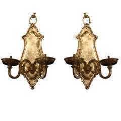 Set of 8 Silverplate Sconces