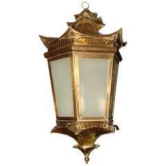 Italian Bronze Lantern for Indoors