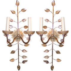 Pair of Bagues Silver Plated Sconces