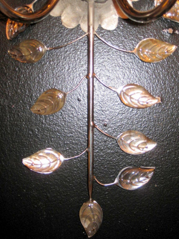 Pair of Bagues Silver Plated Sconces 3