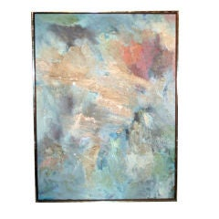"""Fine 1950's Abstract Painting Titled """"Jungle Storm"""""""