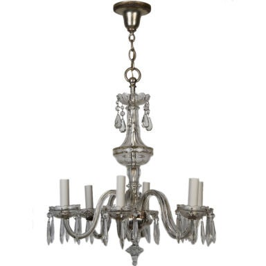 An Antique Six Light Czech Crystal Chandelier At 1stdibs