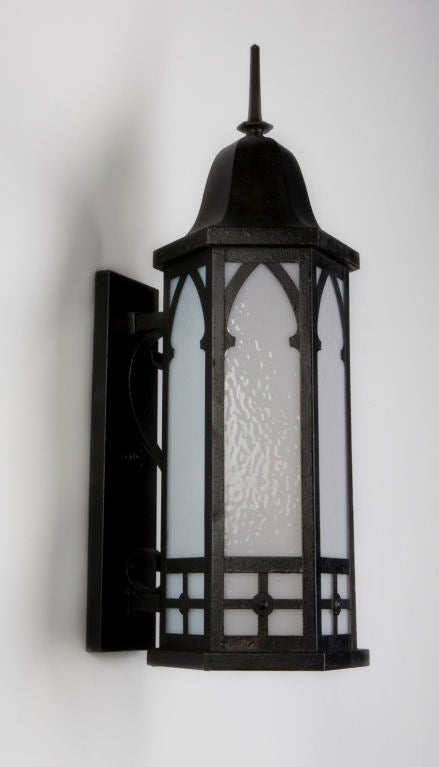 A Pair Of Antique Hexagonal Exterior Wall Lanterns At 1stdibs