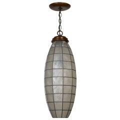 An antique capiz shell pendant