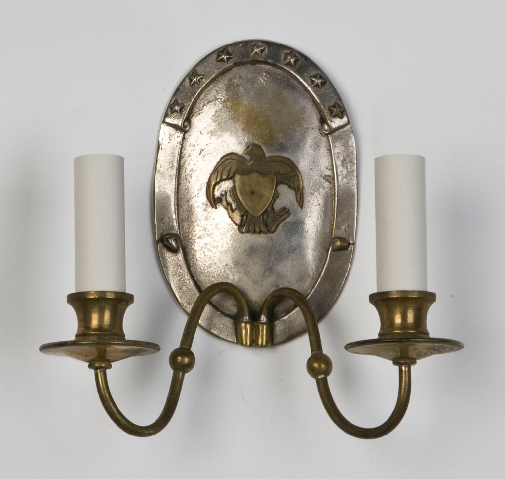 An antique double-light sconce by E. F. Caldwell at 1stdibs