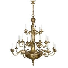 Antique Bronze and Brass Chandelier by E. F. Caldwell