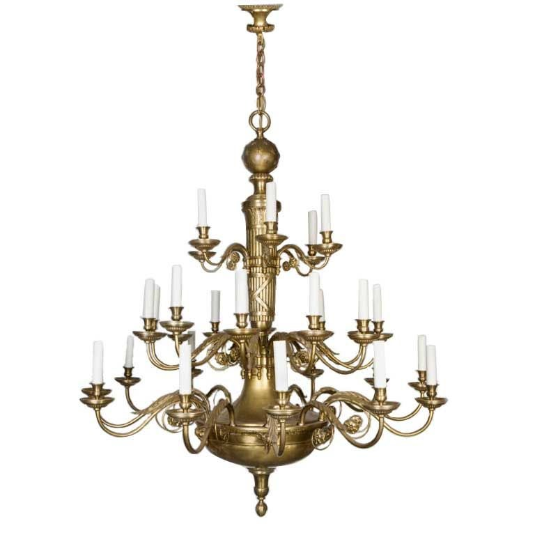 Antique Bronze and Brass Chandelier by E. F. Caldwell For Sale - Antique Bronze And Brass Chandelier By E. F. Caldwell For Sale At
