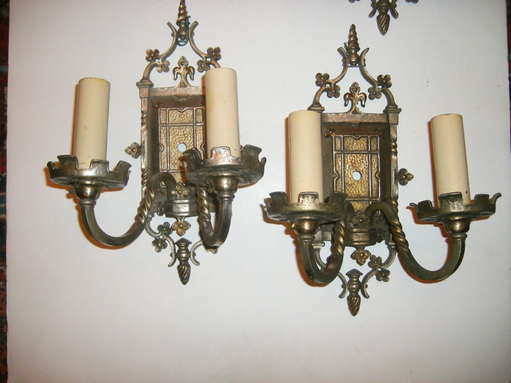 Wall Sconces Gothic : Set of 4 Gothic Style Sconces For Sale at 1stdibs