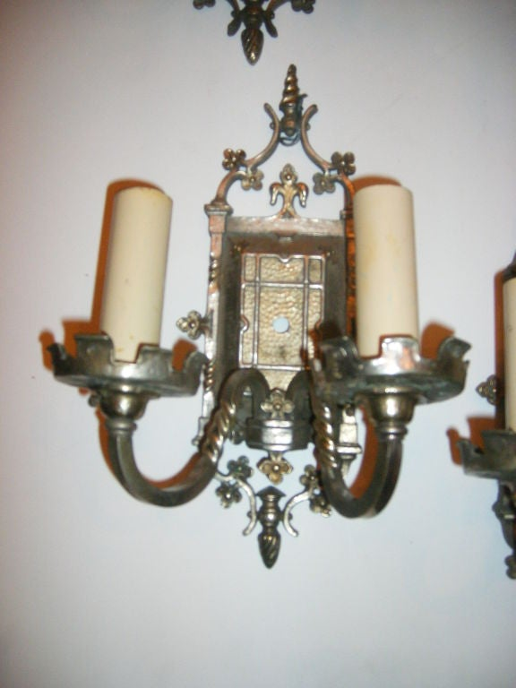 Set of 4 Gothic Style Sconces For Sale at 1stdibs