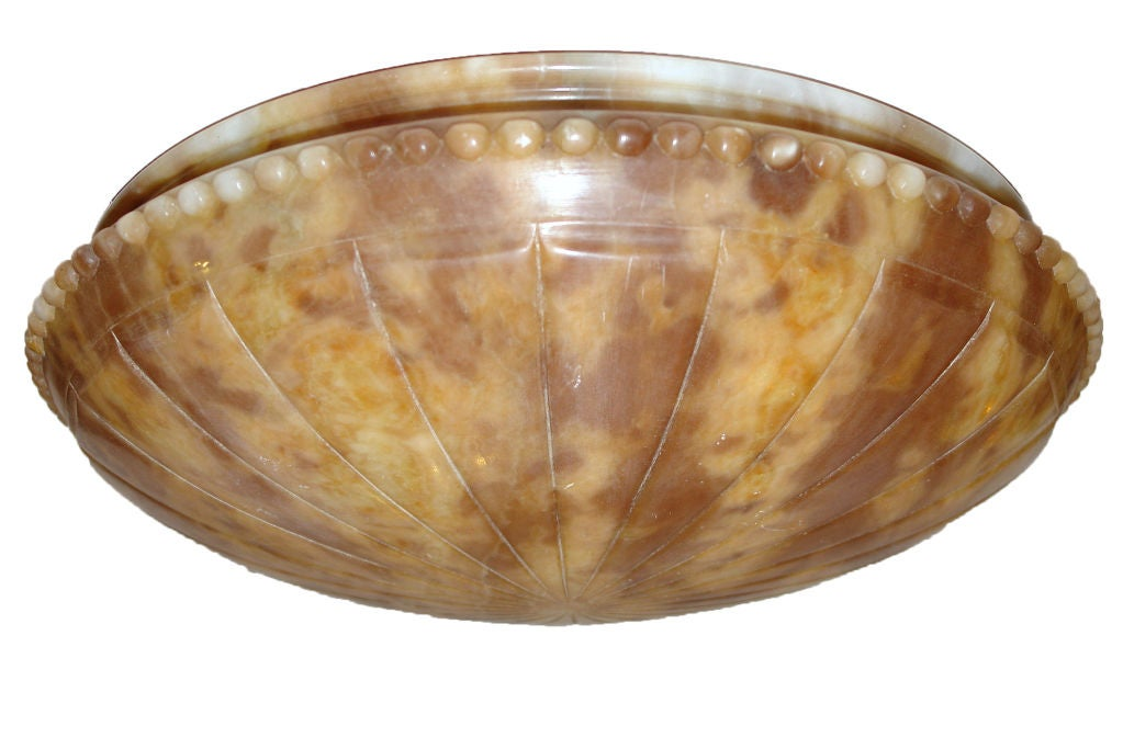 Tortoise shell alabaster light fixture for sale at 1stdibs for Shell ceiling light fixtures