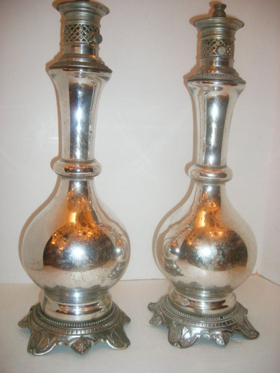 Mercury Glass Table Lamps At 1stdibs